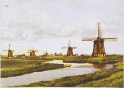 Group of Windmills at Schermenpolder Netherlands