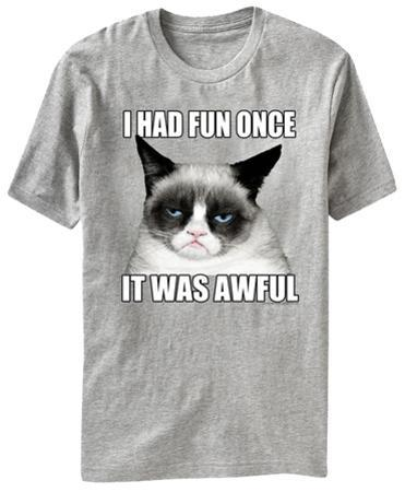 Grumpy Cat - I Had Fun Once It Was Awful