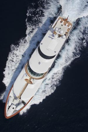 Birds Eye View of Mega Yacht by GSD Photo