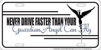 Guardian Angel License Plate Tin Sign
