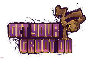 Guardians of the Galaxy Badge Art Featuring Groot