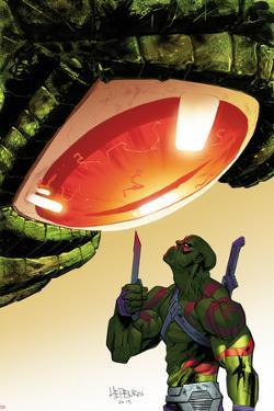 Guardians of the Galaxy Cover Art Featuring Drax