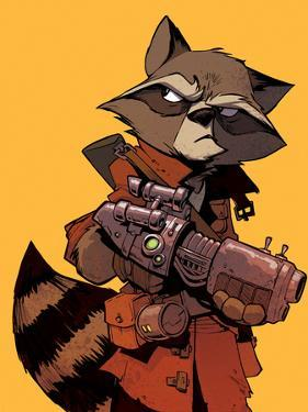 Guardians of the Galaxy Cover Art Featuring: Rocket Raccoon