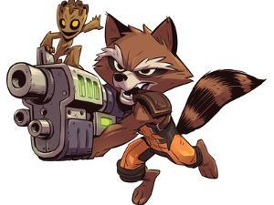 Guardians of the Galaxy Panel Featuring: Groot, Rocket Raccoon