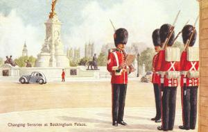 Guards at Buckingham Palace, London, England