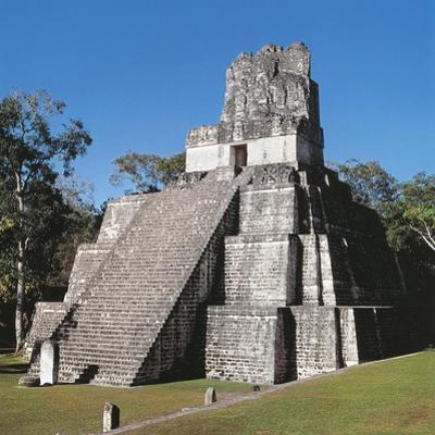 Guatemala, El Peten, Archaeological Site, Tikal National Park, Temple of the Masks or Moon