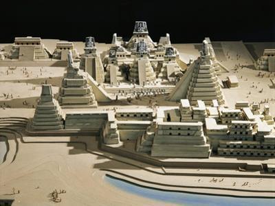 Guatemala, Plastic Model of Tikal Temples