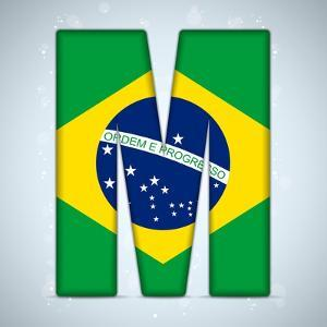 Brazil Flag Brazilian Alphabet Letters Words by gubh83