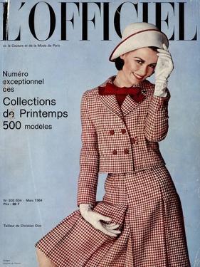 L'Officiel, March 1964 - Tailleur de Christian Dior by Guégan