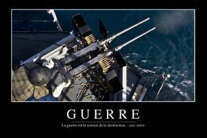 Guerre: Citation Et Affiche D'Inspiration Et Motivation