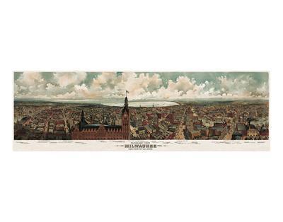 Panoramic View of Milwaukee, Wisconsin, 1898