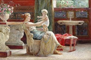 A Mother's Joy by Guglielmo Zocchi