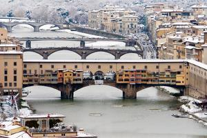 Old Bridge under Snow by Guido Agapito