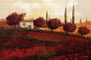 Apapaveri Toscana II by Guido Borelli