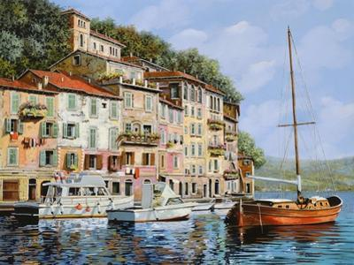La Barca Rossa Alla Calata by Guido Borelli