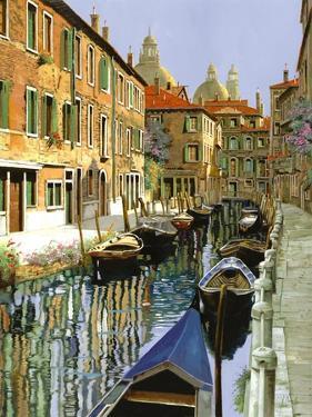 La Barche Sul Canale by Guido Borelli
