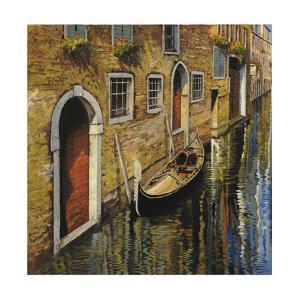 La Gondola Sul Canale by Guido Borelli