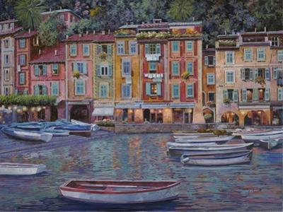 Portofino al Crepuscolo by Guido Borelli