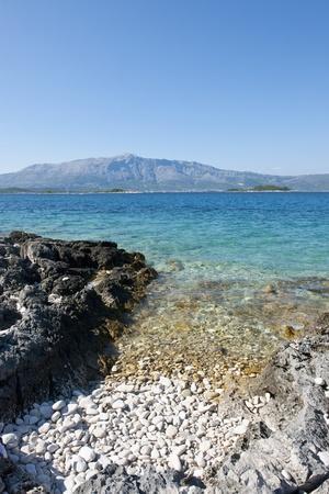 Beach, Lumbarda, Korcula Island, Croatia