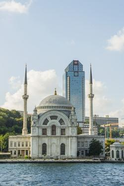 Bezni Alem Valide Sultani Cami Mosque along Bosporus by Guido Cozzi