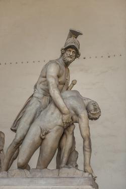 Piazza Signoria, Loggia Dei Lanzi, Patroclo E Menelao by Guido Cozzi