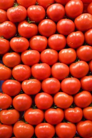 Tomatoes at Boqueria Market in Barcelona