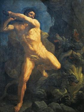 Hercules Killing Hydra of Lerna by Guido Reni