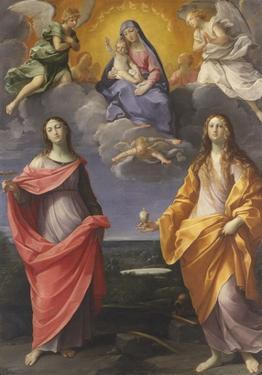 Madonna of the Snow with Saints Lucy and Mary Magdalen by Guido Reni