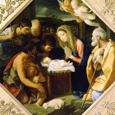 The Adoration of the Christ Child, C1640 by Guido Reni