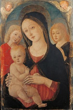 Virgin with Child and Two Angels by Guidoccio Cozzarelli