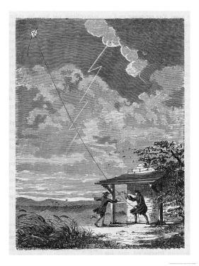 Benjamin Franklin's Conducting His Lightning Experiments in Philadelphia by Guiguet