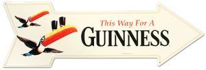 Guinness Arrow Tin Sign