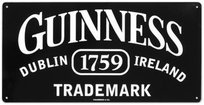 Guinness Trademark Tin Sign