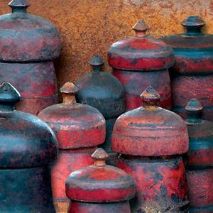 Wooden Jars by Guiseppe Bartolucci