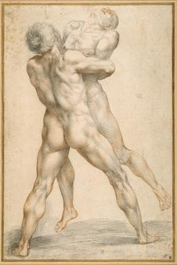 Hercules Wrestling with Antaeus by Guiseppe Cesari