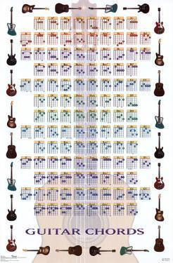 Guitar chord charts posters for sale at allposters com