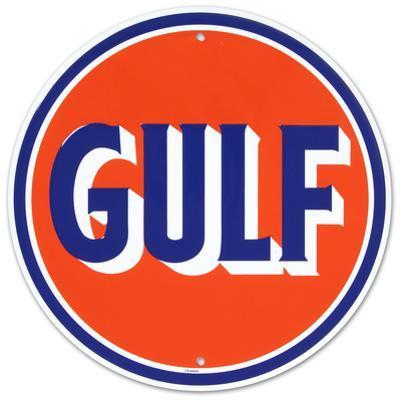 Gulf Oil Gasoline Logo Round