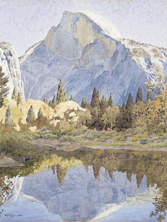 Half Dome and Mirror Lake, 1921 by Gunnar Widforss