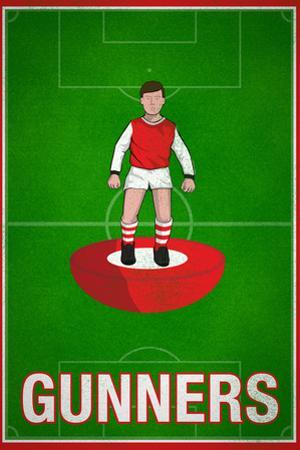 Gunners Football Soccer Sports Plastic Sign