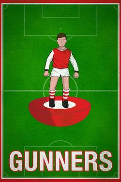 Gunners Football Soccer Sports Poster