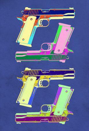Guns Blue Pop-Art Poster