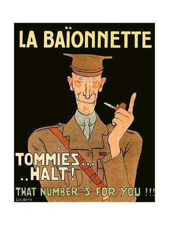 La Baionnette Cover - French Impression of British Officer