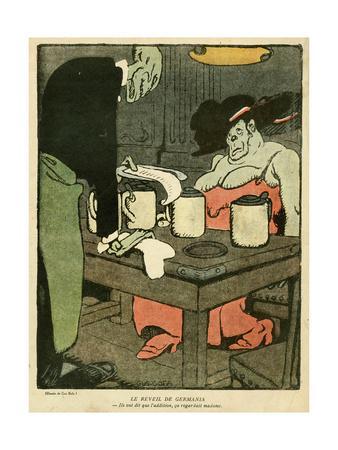 WW1 Cartoon, Pay the Bill