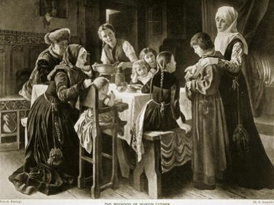 The Boyhood of Martin Luther, Illustration from 'Hutchinson's Story of the British Nation', C.1923