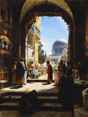 At the Entrance to the Temple Mount, Jerusalem by Gustav Bauernfeind