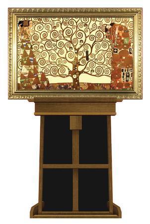 Tree of Life by Gustav Klimt on Museum Easel Fine Art Lifesize Standup