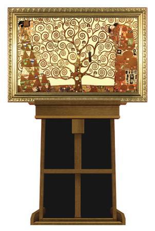 Tree of Life by Gustav Klimt on Museum Easel Fine Art Lifesize Standup by Gustav Klimpt