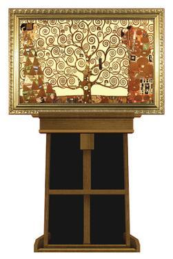 Tree of Life by Gustav Klimt on Museum Easel Fine Art Lifesize Standup by Gustav Klimpt