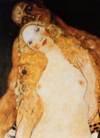 Adam and Eve by Gustav Klimt