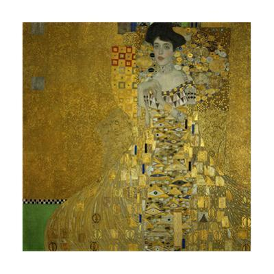 Adele Bloch-Bauer I, 1907 Oil, silver, and gold on canvas 55 1/8 x 55 1/8 in. (140 x 140 cm) by Gustav Klimt